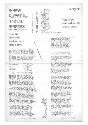 New River Free Press, February, 1975