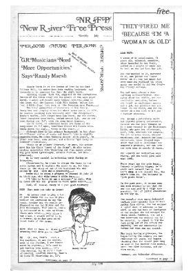 New River Free Press, July, 1975