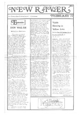 New River Free Press, February, 1977