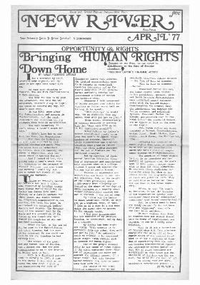 New River Free Press, April, 1977