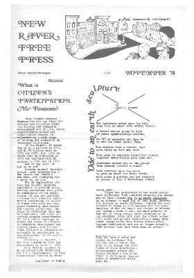 New River Free Press, November, 1974