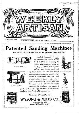 Weekly Artisan, October 16, 1909