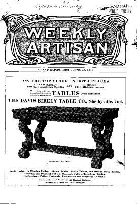 Weekly Artisan, June 25, 1910