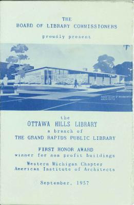 Ottawa Hills Library brochure