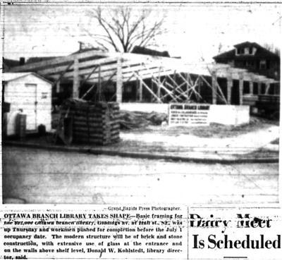 Ottawa Hills branch library construction