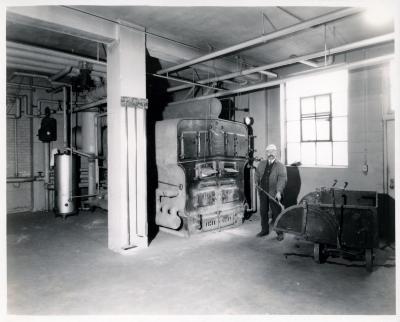 West Side branch, boiler room