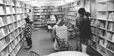 Madison Square branch, mobile library interior
