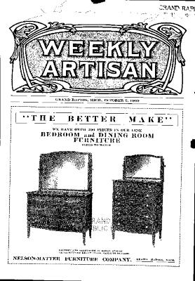 Weekly Artisan, October 2, 1909