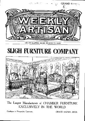 Weekly Artisan, March 12, 1910