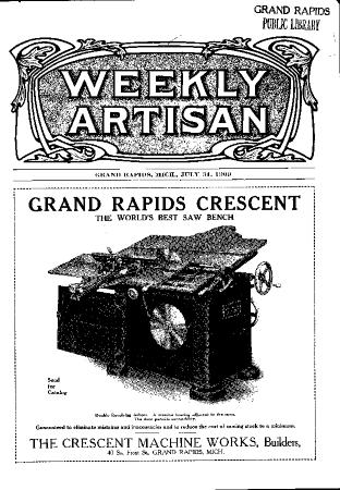 Weekly Artisan, July 31, 1909