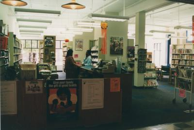 Madison Square branch, interior
