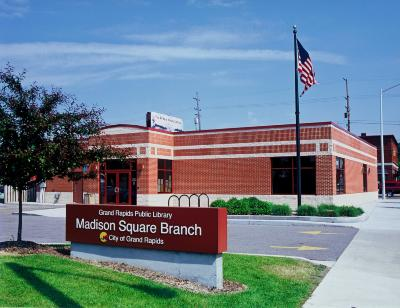 Madison Square branch, exterior