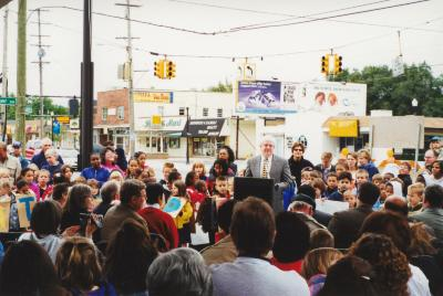 Dedication ceremony for new Seymour Branch Library