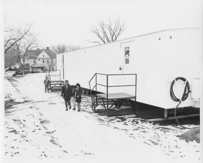 Madison Square branch, mobile library exterior
