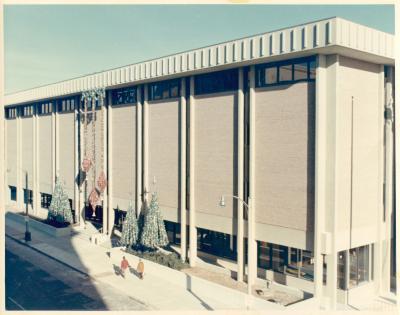 Exterior of the Main Library, circa 1969