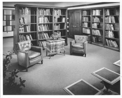 Main Library interior views, circa 1969