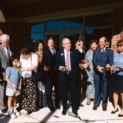 Ribbon cutting for the West Leonard Branch Library