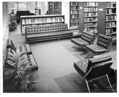 Main Library interior views, circa 1968