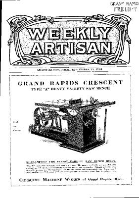Weekly Artisan, September 25, 1909