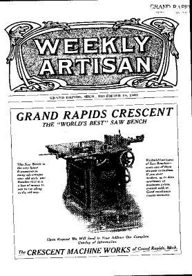 Weekly Artisan, December 18, 1909