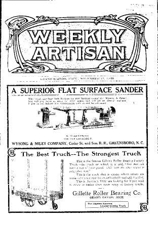 Weekly Artisan, November 13, 1909