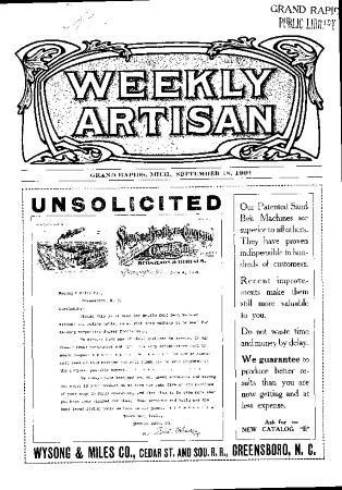 Weekly Artisan, September 18, 1909