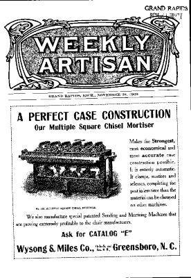 Weekly Artisan, November 20, 1909