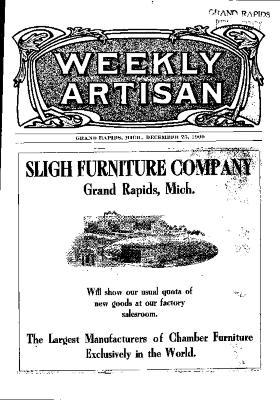 Weekly Artisan, December 25, 1909
