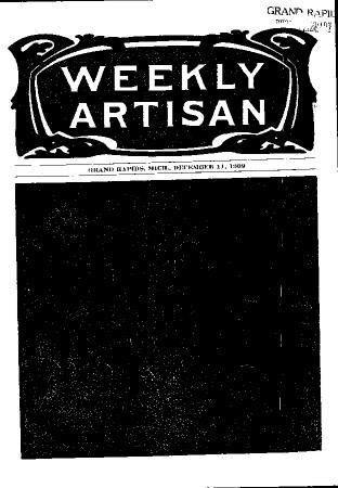 Weekly Artisan, December 11, 1909