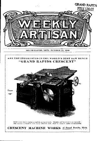 Weekly Artisan, October 23, 1909