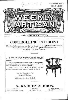 Weekly Artisan, July 16, 1910