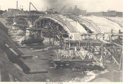 Construction of the Fulton Street Bridge
