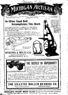Michigan Artisan, November 10, 1905