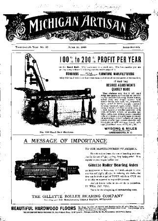Michigan Artisan, June 10, 1906