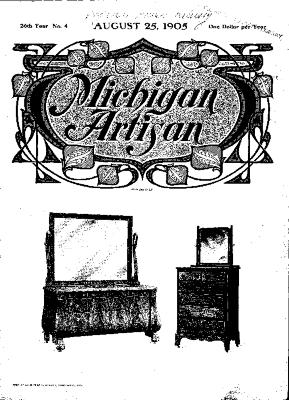 Michigan Artisan, August 25, 1905