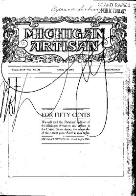 Michigan Artisan, April 25, 1906