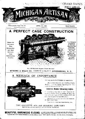 Michigan Artisan, April 10, 1906
