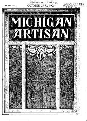 Michigan Artisan, October 25, 1905