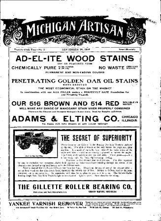 Michigan Artisan, September 10, 1905