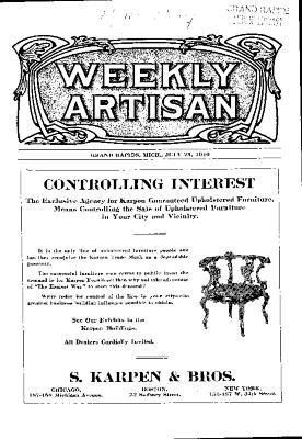 Weekly Artisan, July 23, 1910