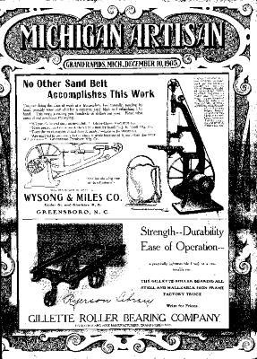 Michigan Artisan, December 10, 1905