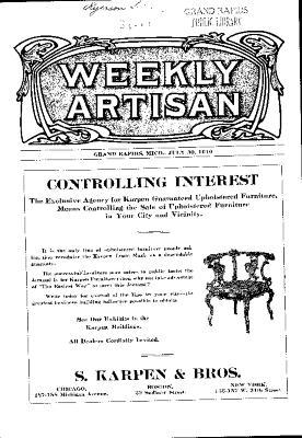 Weekly Artisan, July 30, 1910