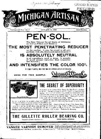 Michigan Artisan, October 10, 1905
