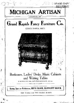 Michigan Artisan, October 25, 1906