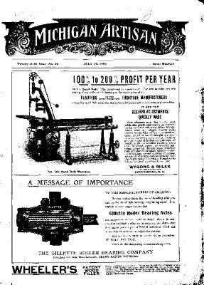 Michigan Artisan, July 10, 1906