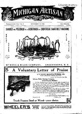 Michigan Artisan, November 10, 1906