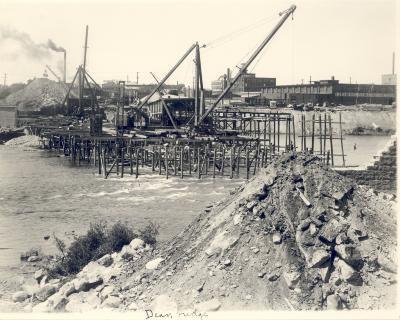 Fulton Street Bridge construction
