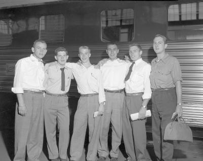Air Corps Enlistees leaving Union Station