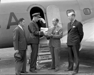 Airport, John Dregge and pilot