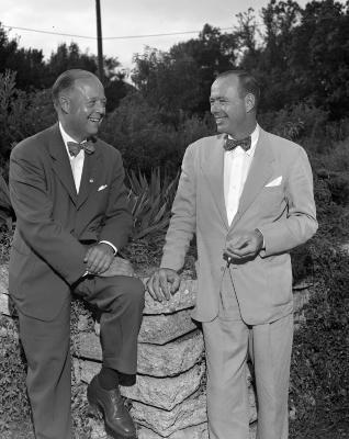 Fred W. Alger with John Dregge